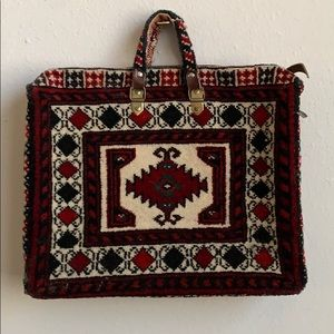 🦋 Vintage 70's Tapestry Kilim Carpet Bag